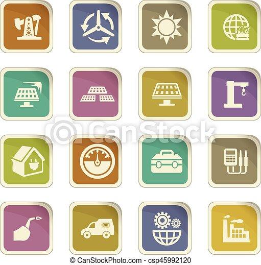 Alternative energy icons set - csp45992120