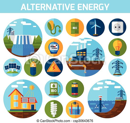 Alternative Energy Icons Set - csp30643676