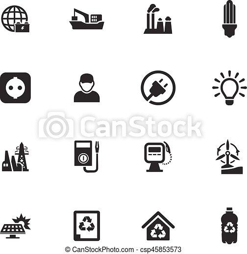 Alternative energy icons set - csp45853573