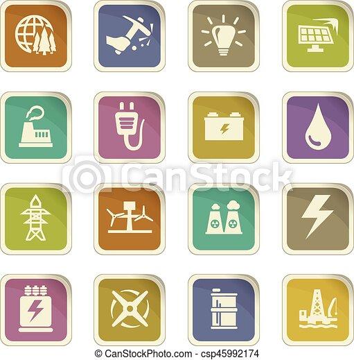 Alternative energy icons set - csp45992174