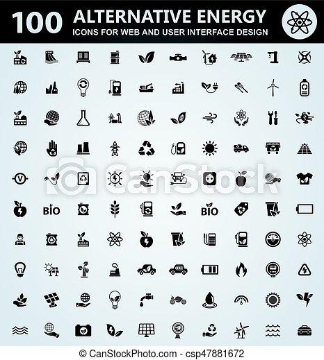 Alternative energy icons set - csp47881672