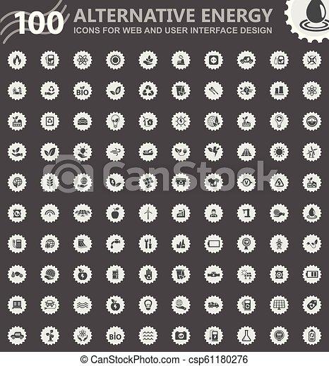 Alternative energy icons set - csp61180276