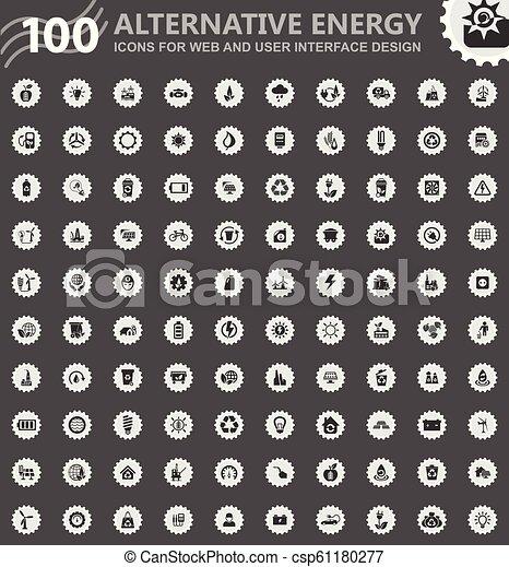 Alternative energy icons set - csp61180277