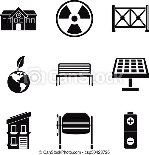 Alternative energy icons set, simple style - csp50423726