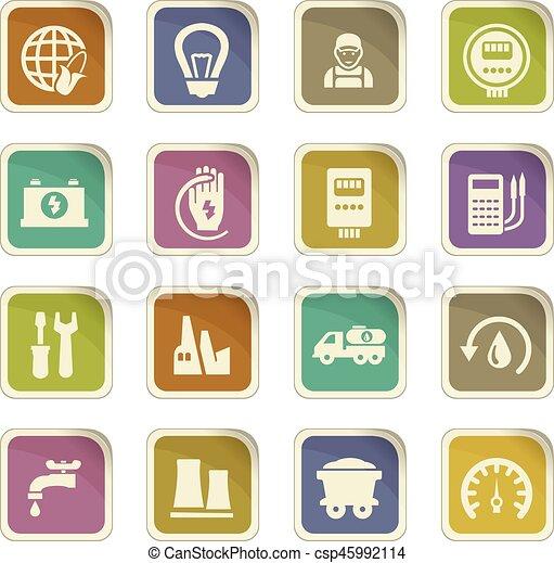 Alternative energy icons set - csp45992114