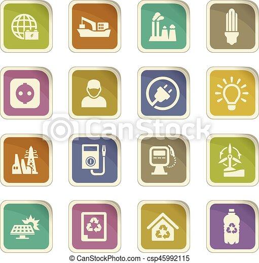 Alternative energy icons set - csp45992115