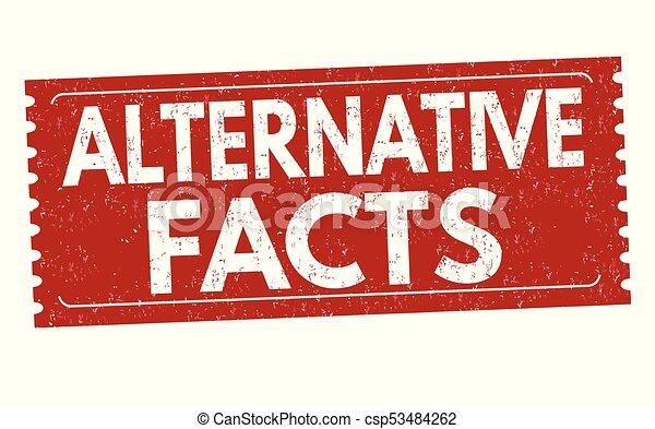 Alternative facts grunge rubber stamp - csp53484262
