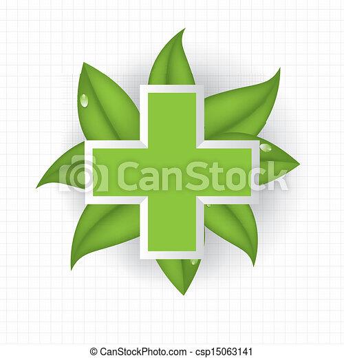 Alternative medication concept background - csp15063141
