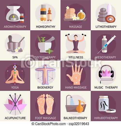 Alternative Medicine Icons Set - csp32019643
