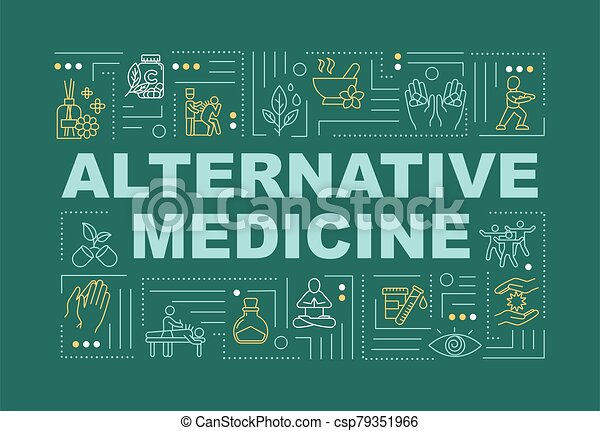 Alternative Medicine Word Concepts Banner Complementary Medical Practice And Technique Infographics With Linear Icons On