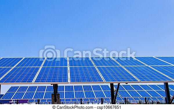 alternative solar energy. solar energy power plant - csp10667651