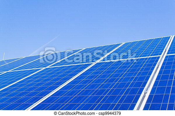 alternative solar energy. solar energy power plant - csp9944379
