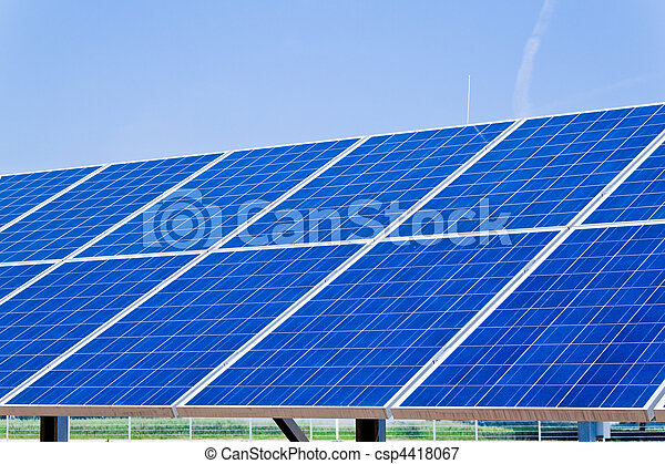Alternative Solar Energy. Solar power plant. - csp4418067