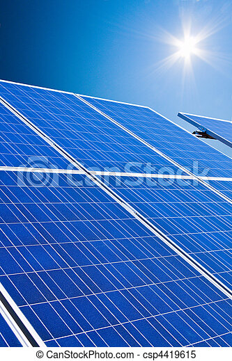 Alternative Solar Energy. Solar power plant. - csp4419615