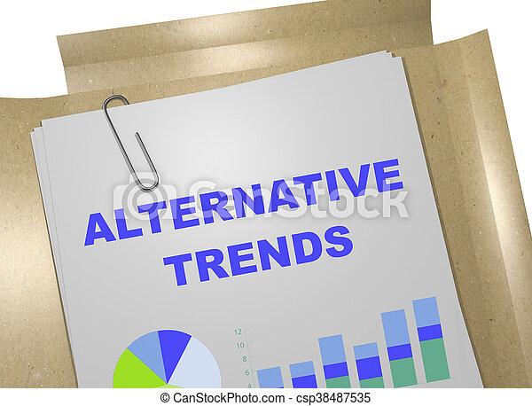 Alternative Trends concept - csp38487535