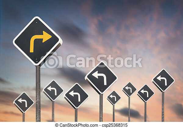 alternative way concept by traffic sign - csp25368315