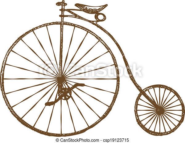 altes fahrrad, gestaltet - csp19123715