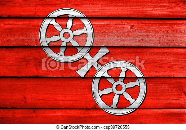 Holz Mainz altes gemalt deutschland fahne holz hintergrund stock
