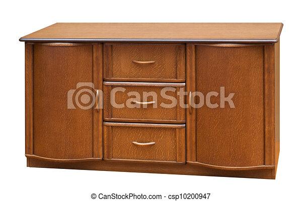 Altes hölzern freigestellt stile weißes bureau