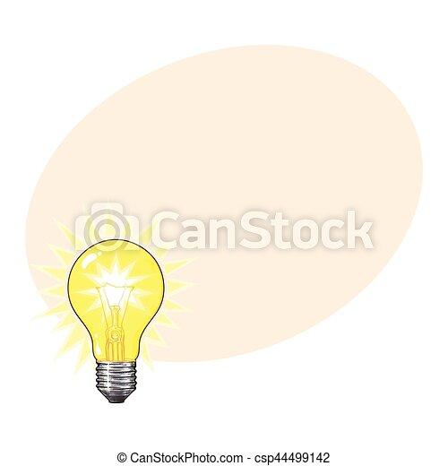 Altes Licht Abbildung Wolfram Glhen Vektor Gestaltet