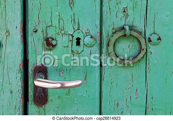 Alte Tür - csp28814923