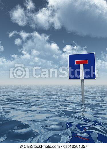 Agua alta - csp10281357
