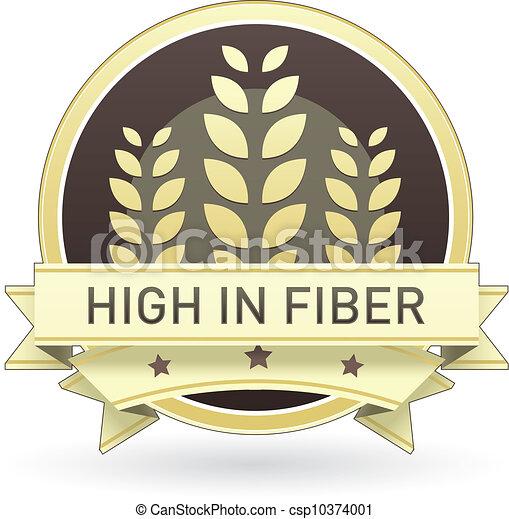 Alto en la etiqueta de la comida de fibra - csp10374001