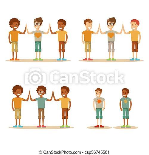 alto, bambini, cinque - csp56745581