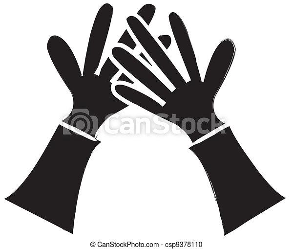 alto cinque, silhouette - csp9378110