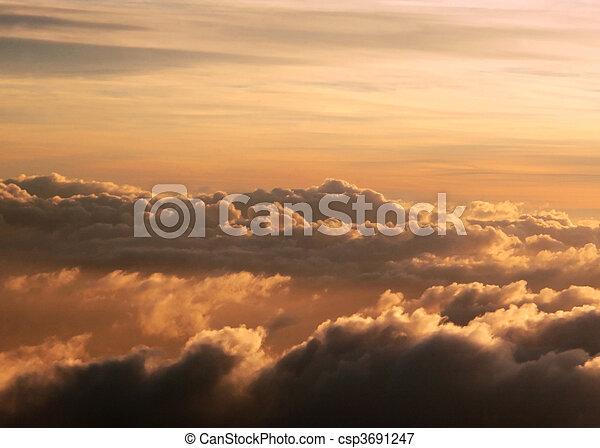 alto, cloudscape, altitudine - csp3691247