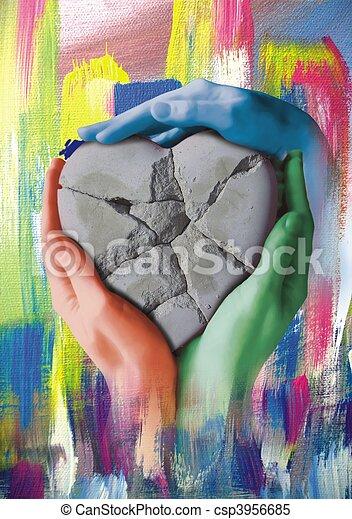Corazón del sumo sacerdote - csp3956685