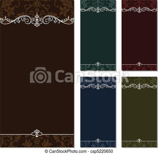 alto, cornice, vettore, set, ornamentale - csp5220650