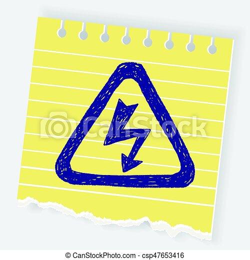 alto, doodle, voltagem, sinal - csp47653416