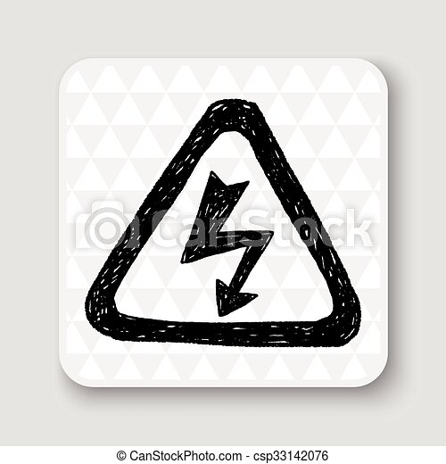 alto, doodle, voltagem, sinal - csp33142076
