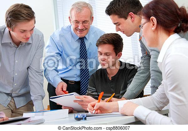 alto, estudantes, professor escola - csp8806007