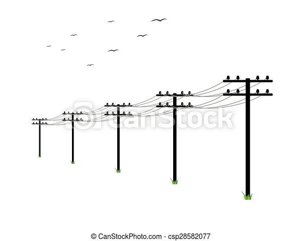 Líneas de alta tensión - csp28582077
