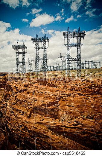 alto, linha, voltagem - csp5518463