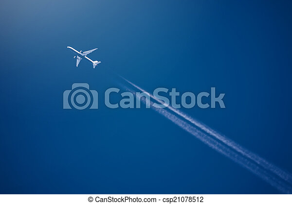 alto, piste, altitudine, aereo di linea, condesation, bianco - csp21078512
