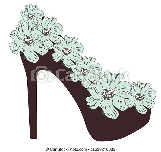 alto, scarpa, tallone - csp33218683