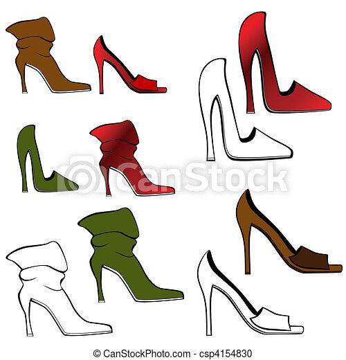 alto, set, scarpa, tallone - csp4154830