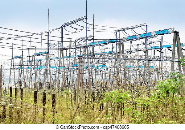 alto, substation, voltagem, poder - csp47408605
