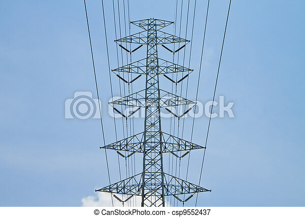 Torres de alto voltaje. - csp9552437