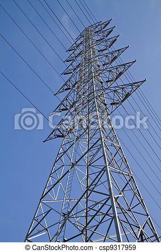 Torres de alto voltaje. - csp9317959