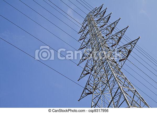 Torres de alto voltaje. - csp9317956