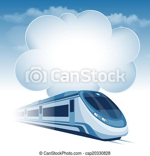 alto, trem passageiro, velocidade - csp20330828