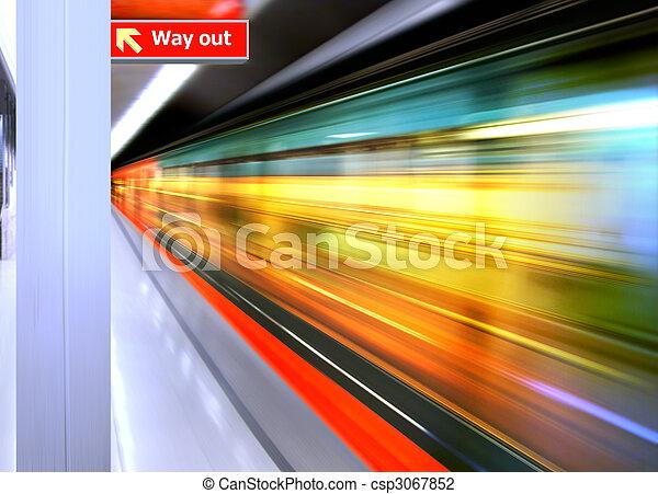 alto, trem, velocidade - csp3067852