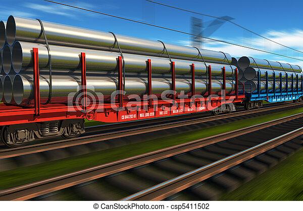 alto, tren, velocidad, carga - csp5411502