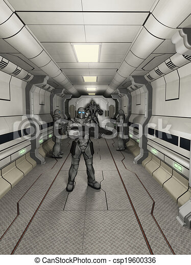 alto, troopers, alarma, marina, espacio - csp19600336