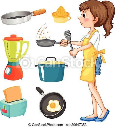 Altro, Donna, Cottura, Oggetti, Cucina   Csp30647353