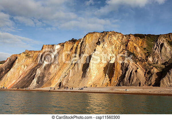 Alum Bay Isle of Wight - csp11560300
